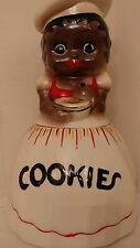 "Mammy Cookie Jar - signed McCoy Black Americana white hat apron 11.5"" tall"