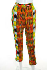 Celine Multi-Color Abstract Print Tapered High Waist Pants Size Small New 109335