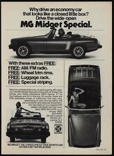 1976 MG MIDGET Special Convertible Sports Car & Pretty Woman VINTAGE AD