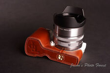 Handmade Vintage Brown Half Leather Case for Sony NEX5N