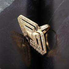 18k ct Yellow Gold Filled Luxury Fashion Women's with Zircon stone Ring - Size 7