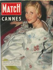 Paris Match n°369 - 1956 -  Michel Morgan Cannes - Joe Louis - Lindecker -