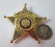 DADE COUNTY (FL) Sheriff's Dept. ** USED ** RARE EARLY ISSUE Badge!! ** w/ID!!