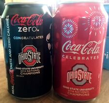 2014 Ohio State OSU National Football Champions Coca Cola Coke Zero Can Set