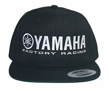 YAMAHA FACTORY RACING HAT CAP FLAT BILL SNAP BACK BLACK  MX YZF YFZ RI R6