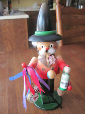 Steinbach Black Forest Wooden Nutcracker Smoker CLOCKMAKER