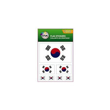 SOUTH KOREA , SET OF 7 COUNTRY FLAG VINYL CAR STICKERS , 3 SIZES .. NEW