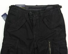 Men's POLO RALPH LAUREN Black Cargo Pants 42x32 42 32 NWT NEW Straight Fit Wow!