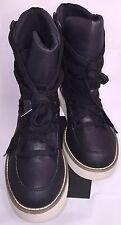 CALVIN KLEIN JEANS TYLER BLACK TEXTILE LACE UP BOOTS w/LUG SOLES SZ 11 NWOBortag