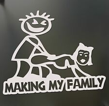 Making my stick figure family Funny Banging Decal Bumper Sticker car window