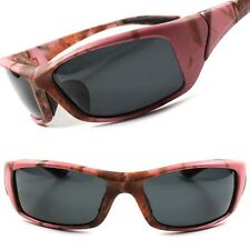 Camouflage Camo Outdoor Fishing Hunting Sport Wrap Rectangle Pink Sunglasses B80