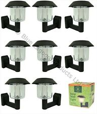 8 x Solar Power Wall Light Fence LED Outdoor Lighting Powered Garden Black