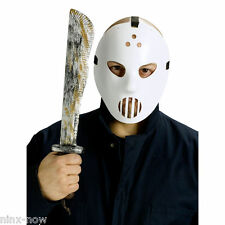 Jason Friday 13th Hockey Mask and Machete set Halloween Costume Accessory