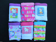 64% OFF! 6 PCS HELLO KITTY HIPSTER COTTON PANTIES SZ 6 /4-6 YRS SET F BNEW $6.99