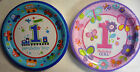 8 x Happy 1st Birthday Party Paper/Card Plates (Train or Butterfies) 22.9 cm