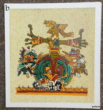 Sand Painting Print Tree of Life  8.5 x 9.5 Made in Mexico Aribol de la Vida