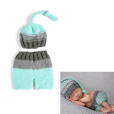 Newborn Baby Handmade Crochet Knitted Hat Shorts Costume Photography Prop Outfit