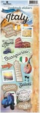 PAPER HOUSE DISCOVER ITALY ROME TRAVEL VACATION CARDSTOCK SCRAPBOOK STICKERS