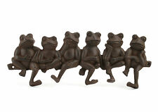 FROG Multi Hook Cast Iron Metal Wall Rack Antique Brown