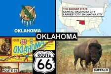 SOUVENIR FRIDGE MAGNET of THE STATE OF OKLAHOMA USA