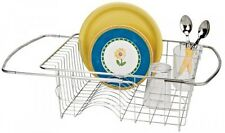 Adjustable Over Sink Dish Drainer in Stainless Steel, Better Houseware, New