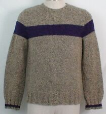 Abercrombie & Fitch Large 70% Wool Khaki Brown Purple Mens? Womens? Sweater