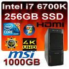 Komplett PC Intel Core i7 6700K 4x4,20GHz MSI 5xUSB3.1-256GB SSD-1TB-16GB-Win7
