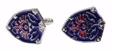Zelda Hylian Shield Metal/ Enamel Finish CUFFLINKS
