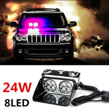12V/24V High Power 8 LED Car Strobe Police Emergency Grille Flash Warning Lights