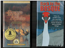 2 Award Winning VHS Videos - BOSQUE del APACHE & BACK TO BOSQUE Sandhill Cranes