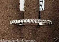 14k White Gold 0.15ct Ladies Ring Prong Set Round Diamond Wedding Band