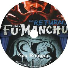 The Return of Dr. Fu-Manchu, Sax Rohmer Evil Genuis Audiobook on 1 MP3 CD