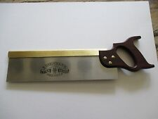 "Brass Back Tenon Saw 14"" (Garlick) cross cut 13tpi"