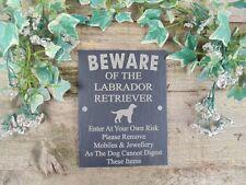Umoristico diffidare di Labrador Retriever cane Slate porta, cancello, TARGA, firmare
