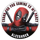 Personalised Deadpool Stickers Birthday Party Thank You Sweet Cones Bags Labels