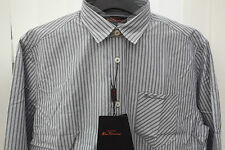 BEN SHERMAN LONG SLEEVE STRIPES SHIRT GREY GOYLE (L) ORIGINAL