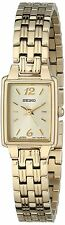 Seiko SXGL62 Women's Champagne Rectangular Dial Gold-Tone Women's Watch