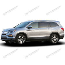 For: HONDA PILOT; PAINTED Body Side Moldings With Chrome Insert 2016-2017