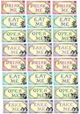 24 x Alice In Wonderland Edible Cupcake Toppers Wafer Paper Fairy Cake Topper