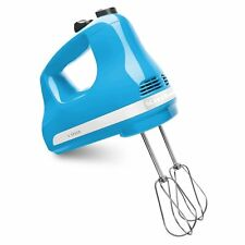 KitchenAid KHM512CL 5-Speed Ultra Power Hand Mixer, Crystal Blue -- New