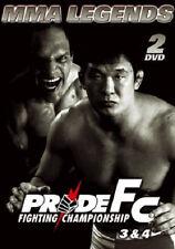 """9312 // MMA LEGENDS  PRIDE FC 3 & 4 COFFRET 2 DVD  350"""""""