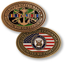 "U.S. Navy - Global War on Terror ""United We Fight"" - USN Bronze Challenge Coin"