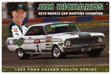 JIM RICHARDS MUSCLE CAR MASTERS  CAR TIN SIGN 20x 30cm