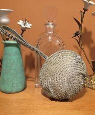 LK Bennett Evening Rhinestone Clam Shell Handbag Clutch Silver Hard to Find!
