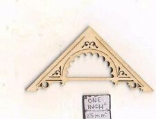 Apex Trim APX-3  Gable Roof  miniature dollhouse 1pc wood 1/12 scale NE1232
