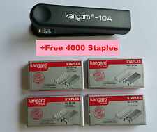 2 X BLACK STAPLER + FREE 8000 STAPLES HS10-A WITH STAPLE REMOVER HOOK OFFICE