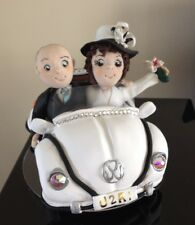 Personalised Polymer Clay Cake Topper - VW Beetle