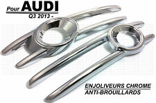 AUDI Q3 2013-ON CHROME FRONT FOG LIGHTS COVER TRIM SURROUND FRAME SLINE TDI TFSI