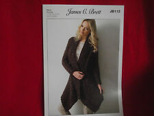 James C Brett - Ladies Mega Chunky Jacket Knitting Pattern - JB112