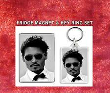Johnny Dep Key Ring & Fridge Magnet Set